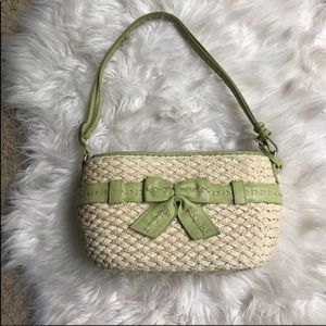 BRIGHTON leather and wicker bag